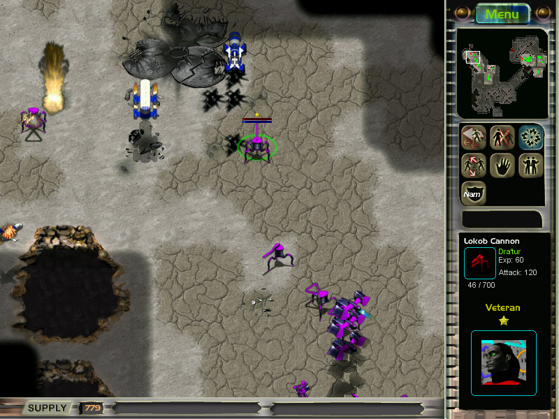A free sci-fi real-time strategy game with LAN multiplayer mode